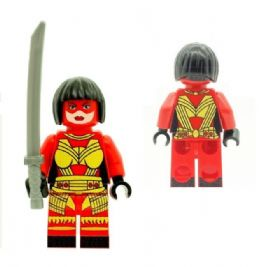Katana (Classic Version with Weapon) From Justice League & Outsiders  - Custom Designed Minifigure